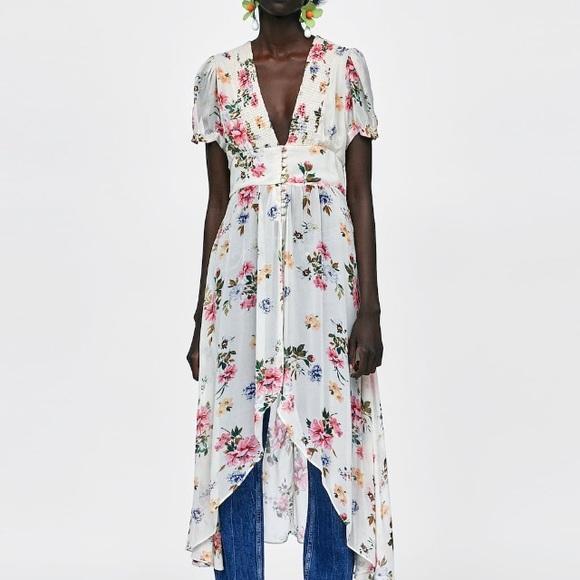 afc48a0b Zara Tops   Long Floral Print Blouse   Poshmark